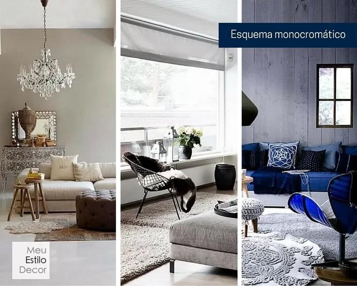 como combinar cores na decoração sem medo monocromático