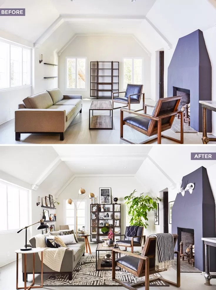 before and after living rooms voc 234 sabe o que 233 styling meuestilodecor 18143