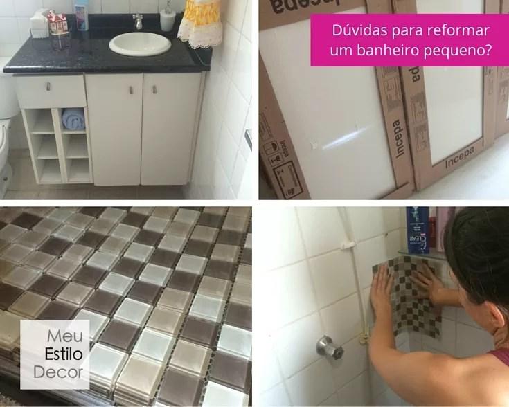 Como reformar um banheiro pequeno • MeuEstiloDecor -> Banheiro Pequeno Quanto Custa