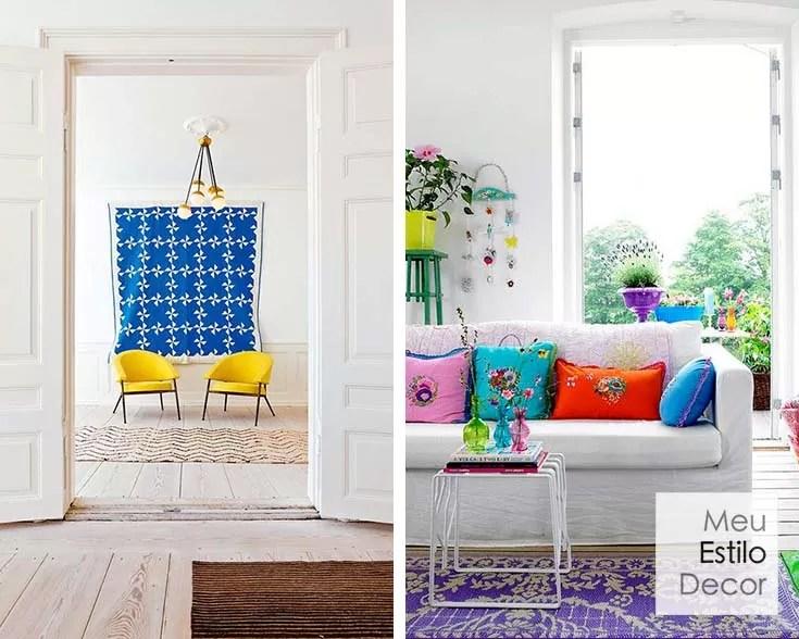 como combinar cores na decoração sem medo pontos de cor