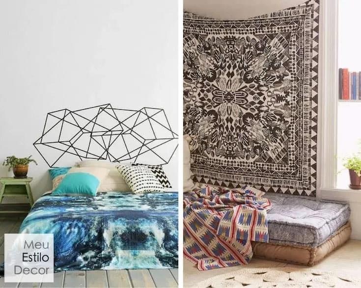 decoração de cabeceira de cama de casal