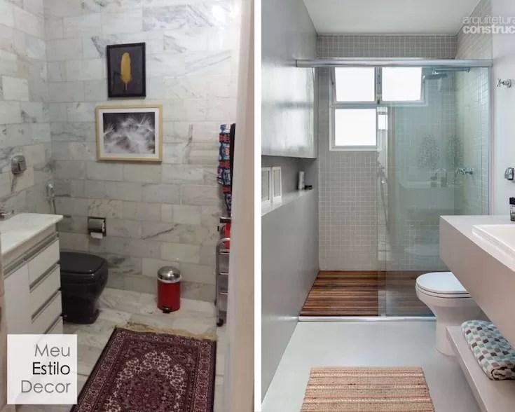 Decorar Banheiro Antigo Alugado Apartamento alugado com corpinho de próprio  # Decorar Banheiro Antigo