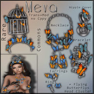 Meva Butterfly Set Vendor