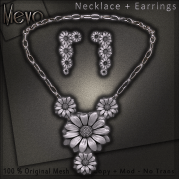 Meva Daisy Necklace Silver Vendor