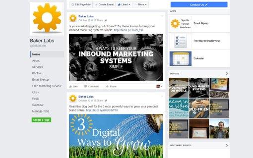 Facebook Promotion of Blog Post