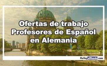 Ofertas de trabajo para profesores de español, ELE, en Alemania