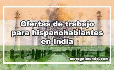Ofertas de trabajo para españoles en India