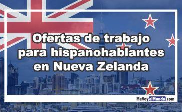 Ofertas de trabajo para españoles en Nueva Zelanda