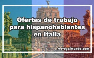 Ofertas de trabajo para españoles en Italia