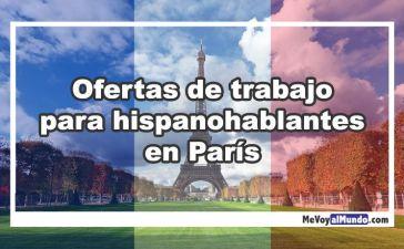 Ofertas de trabajo para hispanohablantes en París