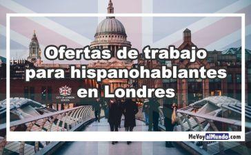 Ofertas de trabajo para españoles en Londres