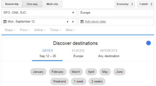 continent google flights