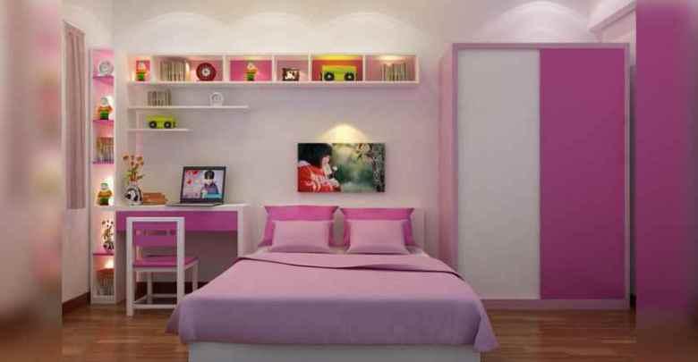 غرفة-نوم-للبنات-بسيطة-وجذابة