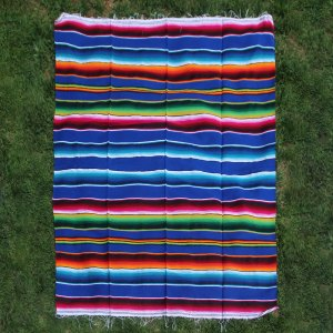 Blue Cotton Serape