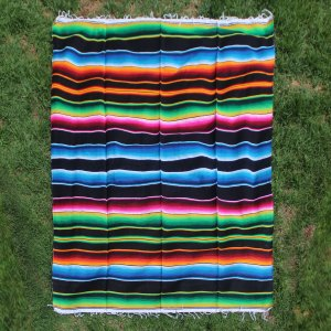 Black Cotton Serape