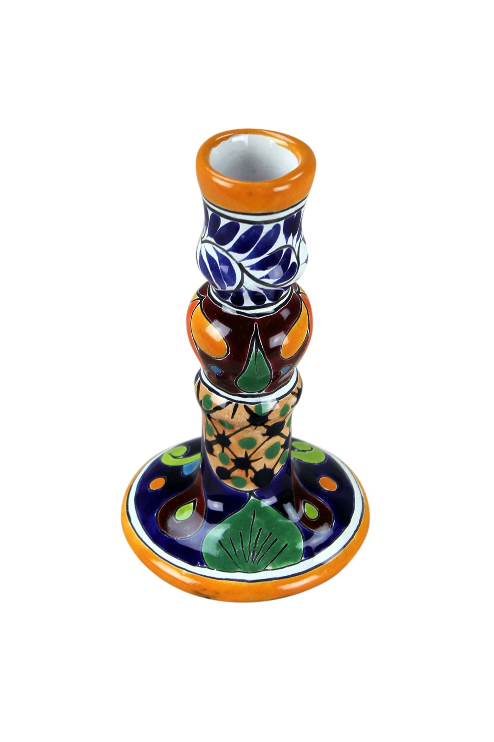 Mexican Talavera Taper Candle Holder Mexican Rustic