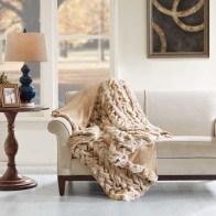 Lifestyle Tan Oversized Throw Blanket