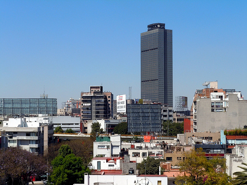 Torre Pemex is easily visible from our terrace by Matthew Rutledge