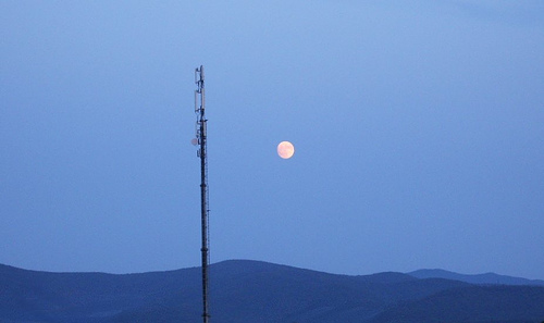 Moon and antenna by Marcello Semboli