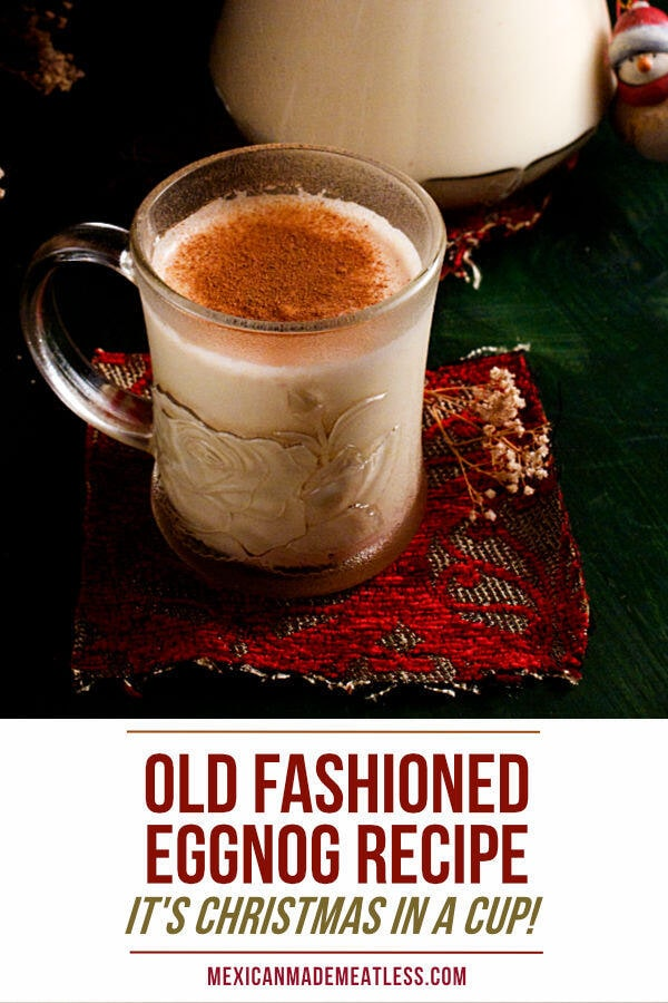 An old fashion traditional recipe for making Christmas eggnog