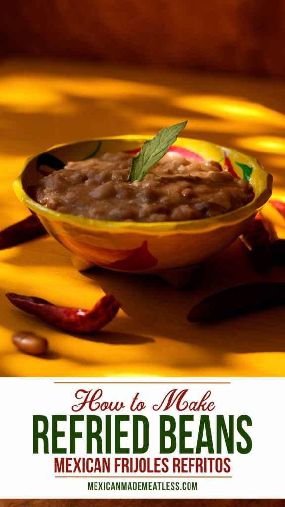 Frijoles Refritos: Mexican Refried Beans | #beans #mexican #cookingbasics #refriedbeans