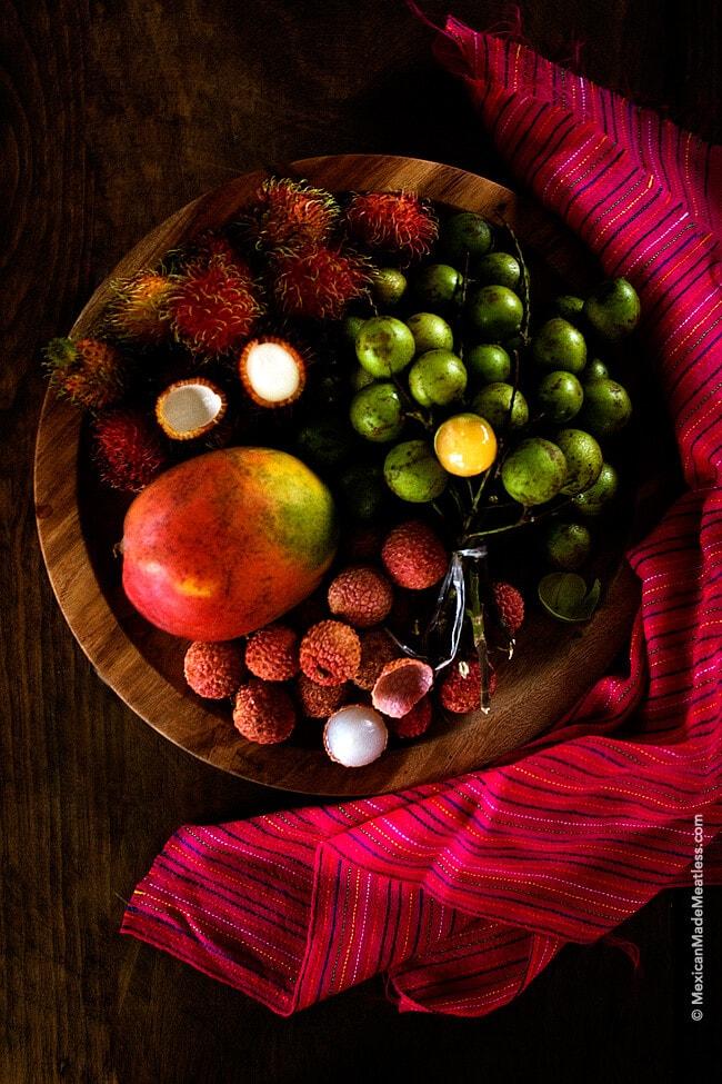 Huaya Fruit, Lychee, Rambutan and a Mango | More Exotic Fruits from Southern Mexico | #huaya #lychee #rambutan