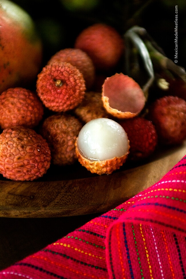 Lychee fruit grown in Mexico's Chiapas state.