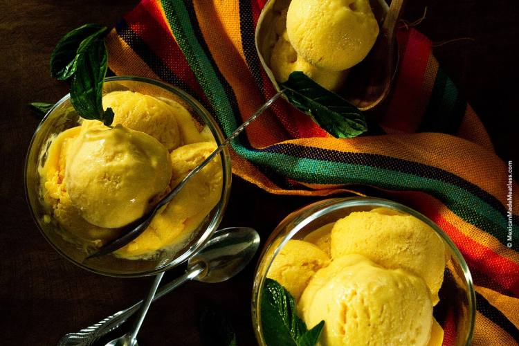 4 Ingredient Mango Ice Cream