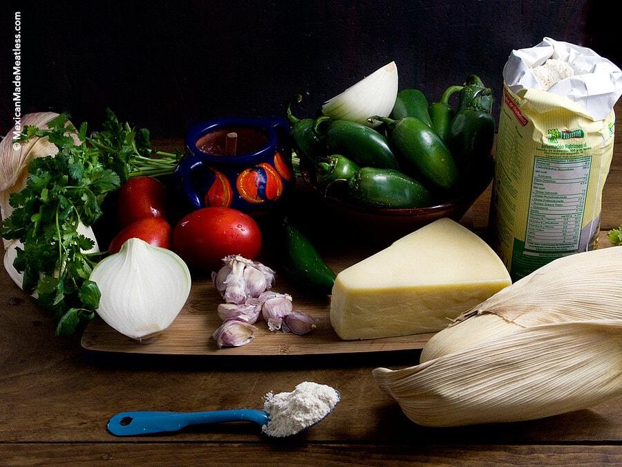 Ingredients for Making #Vegetarian #Tamales