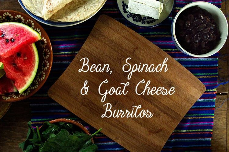 Bean, Spinach & Goat Cheese Burritos