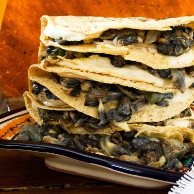 Corn Truffle Quesadillas | Quesadillas de Huitlacoche (Video Recipe)