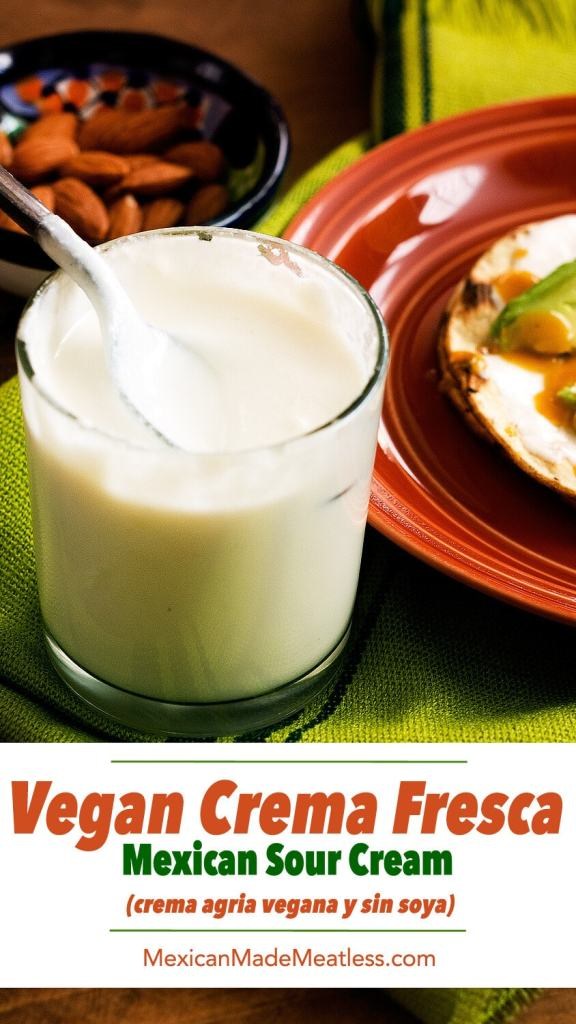 How to Make #Vegan Crema Fresca (no soy) | Como hacer crema fresca vegana