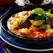 How to Make Mexican Albondigas Soup   Vegetarian & Soy Free (Albondigas en Caldillo)
