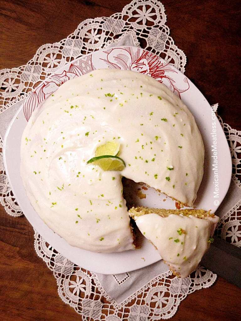 Vegan Lime Cake with Cream Cheese Frosting