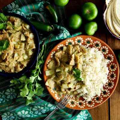 Vegan Chicharron in Salsa Verde