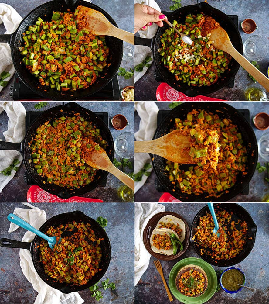 How to Cook Nopales with Chorizo Recipe