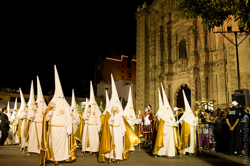 San Luis Potosi Procession of Silence, the most important in Mexico during Holy Week (Semana Santa) video