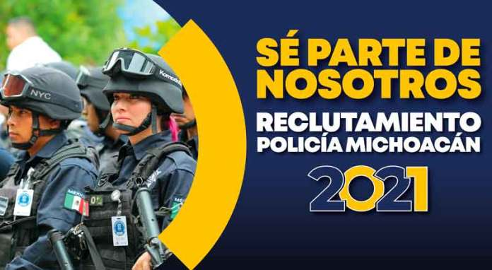 "SSP starts with the ""Michoacán Police Recruitment 2021"" program"