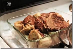 recuerda cocinar la carne en la olla a presión para el Caldo de Res, Puchero o Cocido