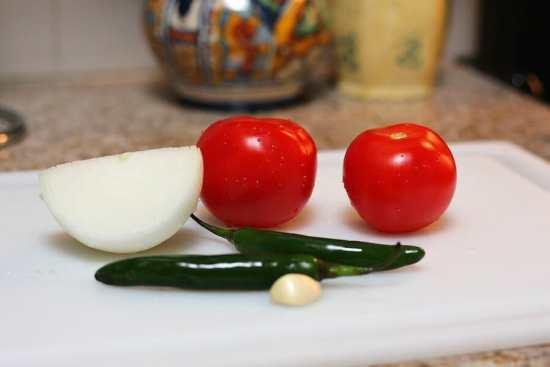 Salsa roja frita, ingredientes