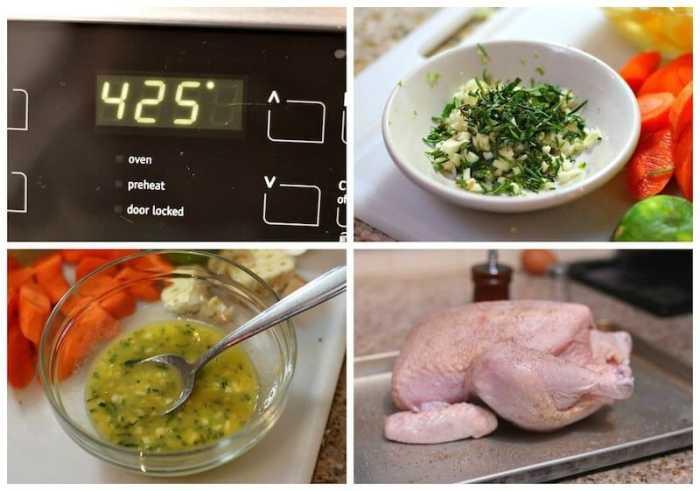 Pollo al Horno, instrucciones paso a paso