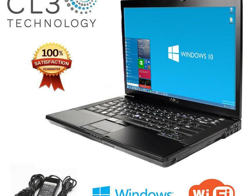 """Laptop Dell Latitude E Series Core 2 Duo WIFI Windows 10 Pro 15 """"LCD DVD + 4GB"""
