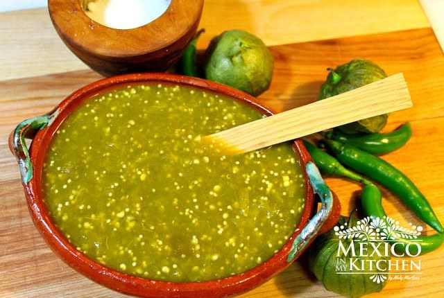 Salsa Verde Recipe | Green Chile Sauce | Authentic Mexican Recipes by Mexico in My Kitchen