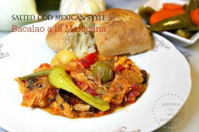 Salted Cod Mexican Style Recipe