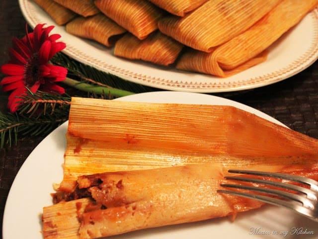 Tamales made with masa harina