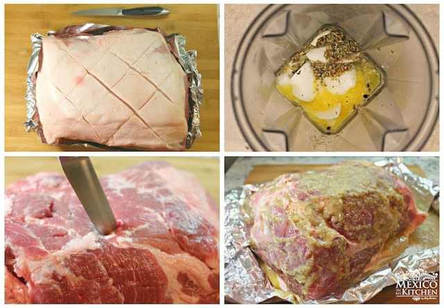 Roasted pork leg easy and with excellent results