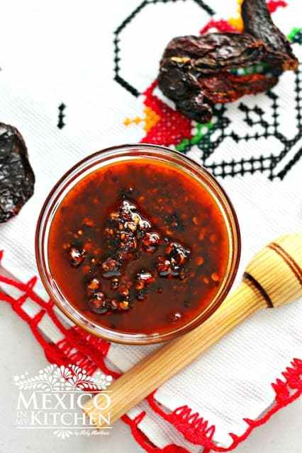 Chile Morita Salsa with Oil recipe