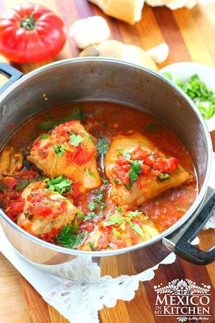 Braised Chicken and Tomato Easy recipe
