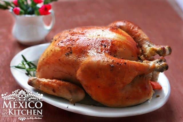 Easy roast chicken recipe pollo al horno