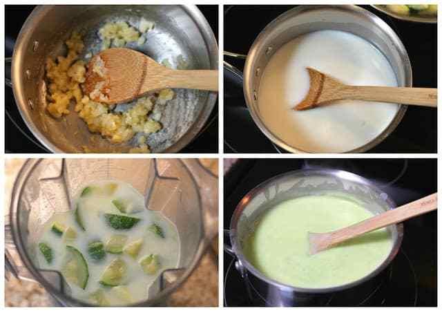 Zucchini Cream soup recipe, also known as sopa de calabacitas.